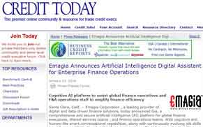 Emagia Announces Artificial Intelligence Digital Assistant for Enterprise Finance Operations