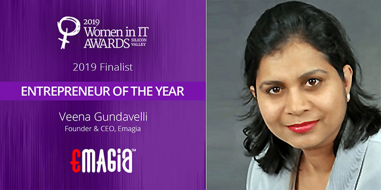 Finalist For the Entrepreneur of the Year 2019 at Women in IT Awards Silicon Valley