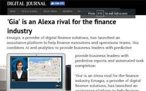 'Gia' is an Alexa rival for the finance industry