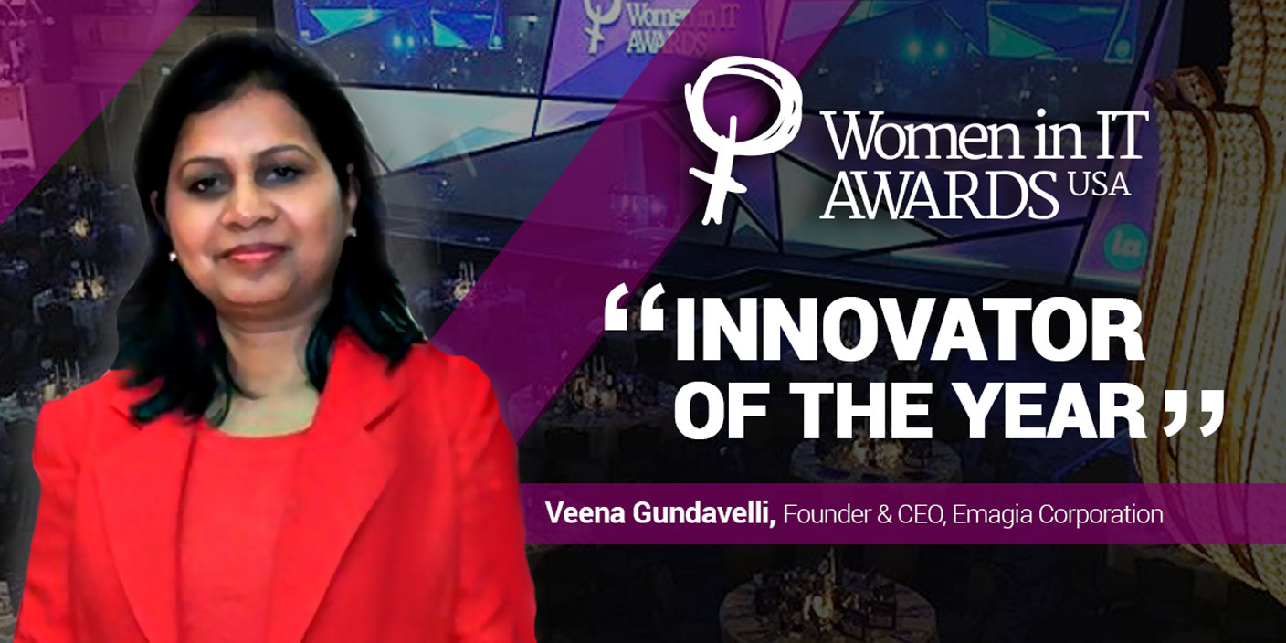 Honored as the Innovator of the Year at 2018 Women in IT Awards USA