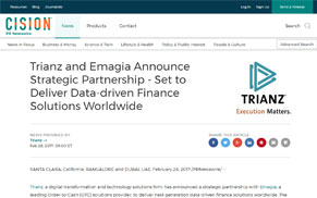 Trianz and Emagia Announce Strategic Partnership